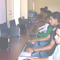 Students working in computer lab