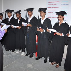 Students taking oath on Graduation Day